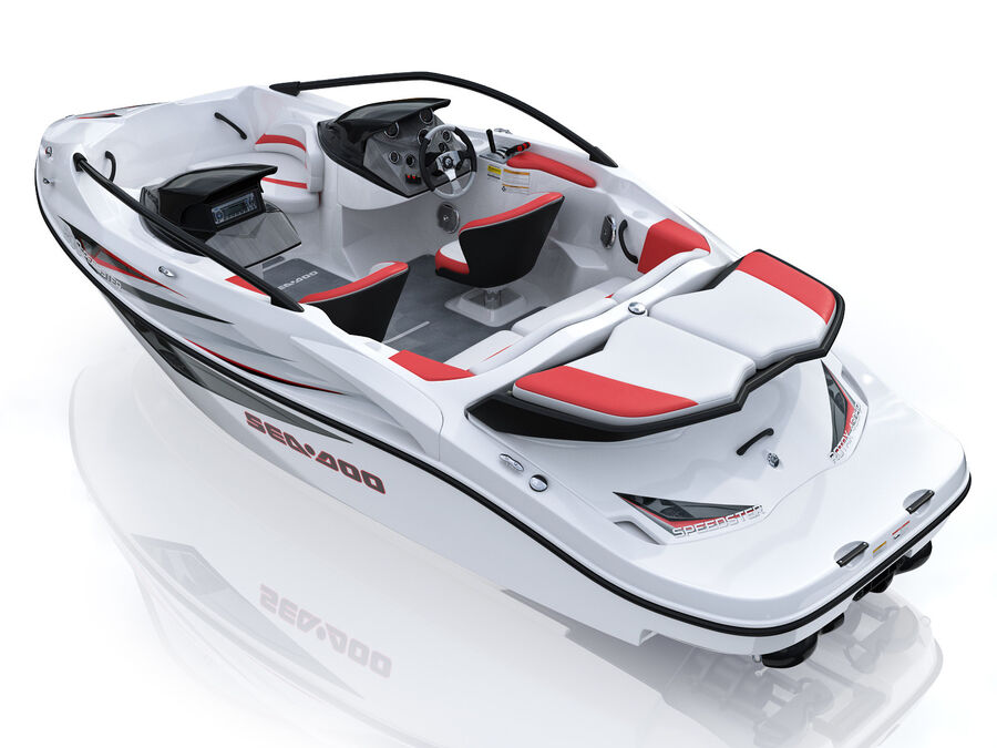 SEA-DOO Speedster 200 and trailer royalty-free 3d model - Preview no. 14