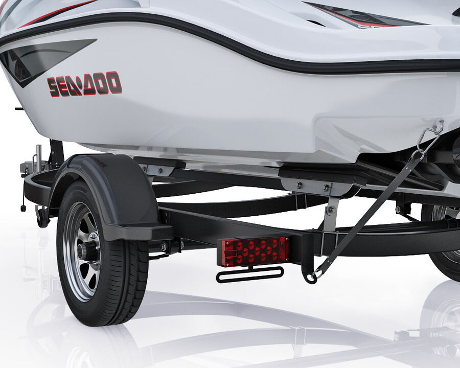 SEA-DOO Speedster 200 and trailer royalty-free 3d model - Preview no. 8