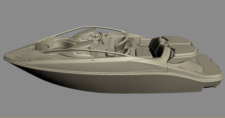 SEA-DOO Speedster 200 and trailer royalty-free 3d model - Preview no. 30