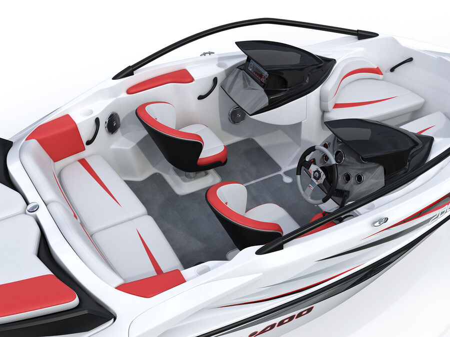 SEA-DOO Speedster 200 and trailer royalty-free 3d model - Preview no. 26