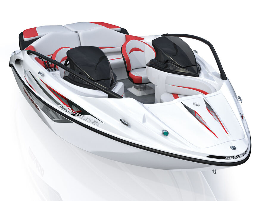 SEA-DOO Speedster 200 and trailer royalty-free 3d model - Preview no. 15