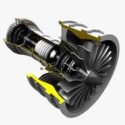 Turbofan 3d model