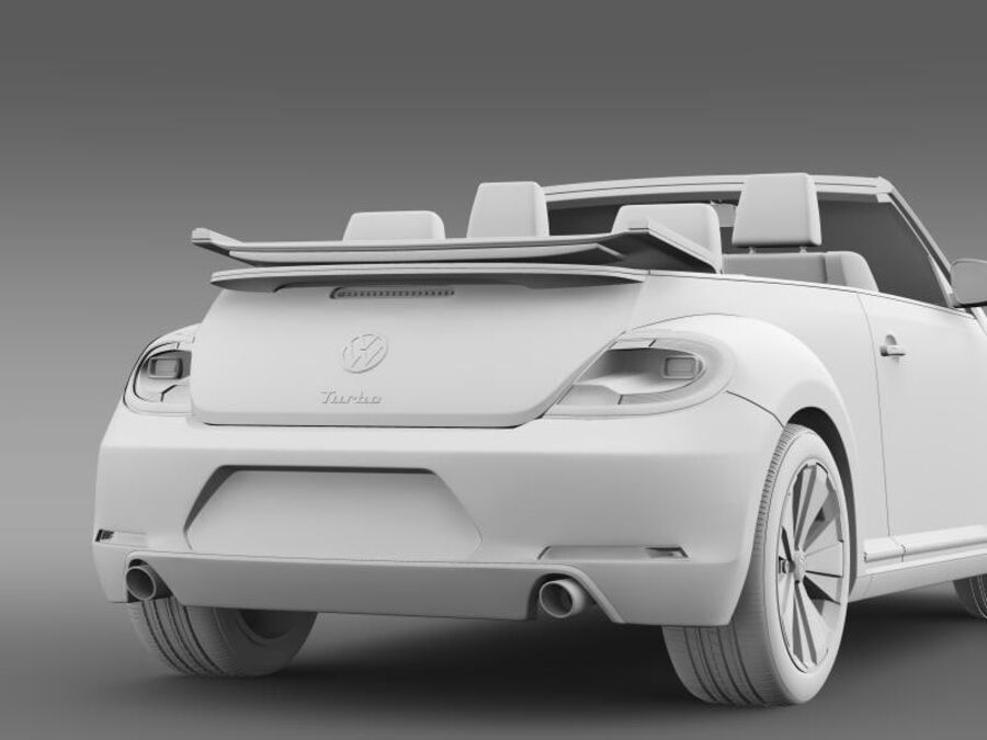 VW Beetle Turbo Кабриолет royalty-free 3d model - Preview no. 18