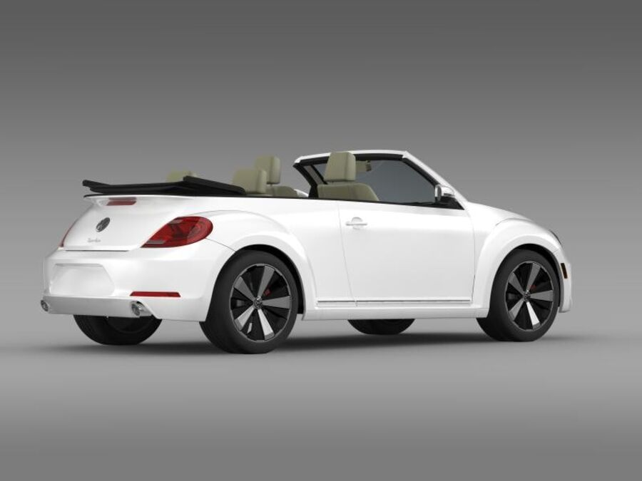 VW Beetle Turbo Cabrio royalty-free modelo 3d - Preview no. 11