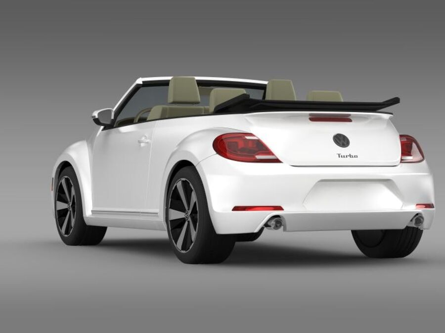 VW Beetle Turbo Cabrio royalty-free modelo 3d - Preview no. 8