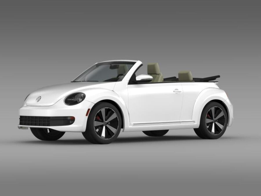 VW Beetle Turbo Кабриолет royalty-free 3d model - Preview no. 5