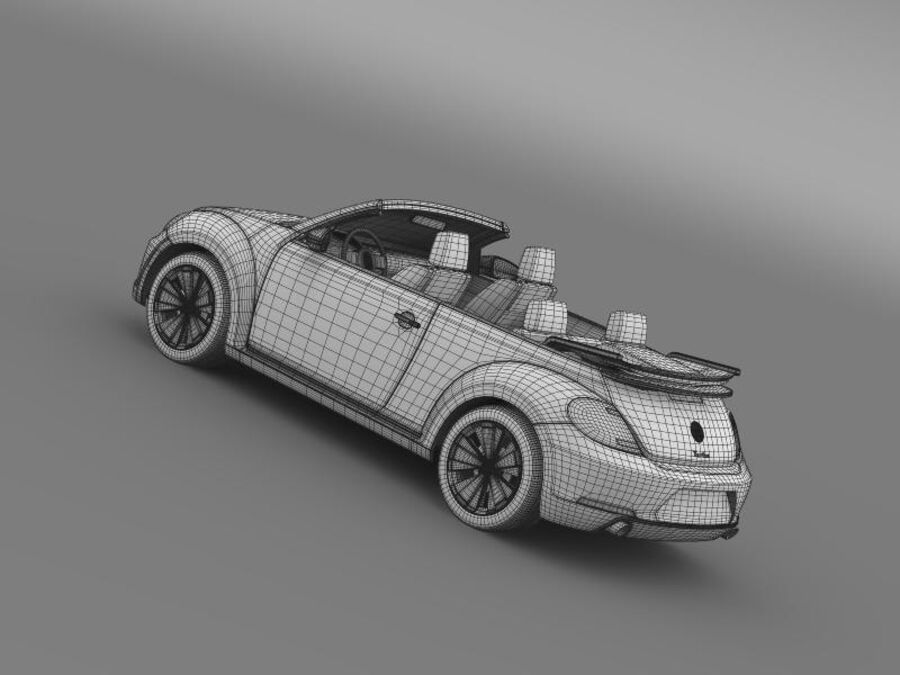VW Beetle Turbo Кабриолет royalty-free 3d model - Preview no. 21