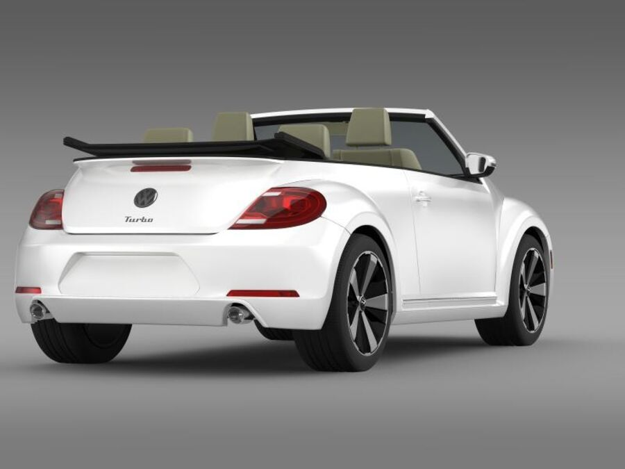 VW Beetle Turbo Cabrio royalty-free modelo 3d - Preview no. 10