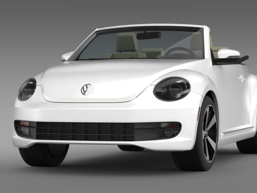 VW Beetle Turbo Кабриолет royalty-free 3d model - Preview no. 3