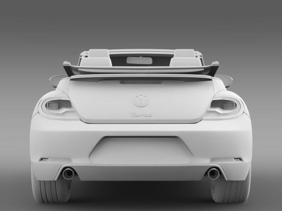 VW Beetle Turbo Кабриолет royalty-free 3d model - Preview no. 16