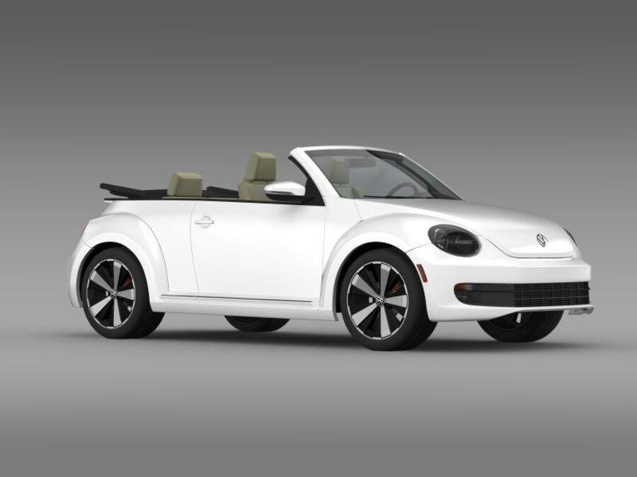 VW Beetle Turbo Кабриолет royalty-free 3d model - Preview no. 13
