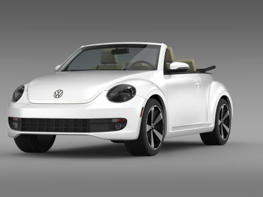 VW Beetle Turbo Cabrio royalty-free modelo 3d - Preview no. 4