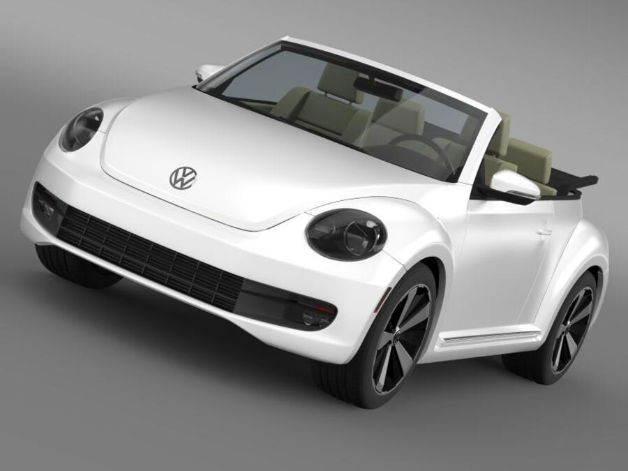 VW Beetle Turbo Cabrio royalty-free modelo 3d - Preview no. 1