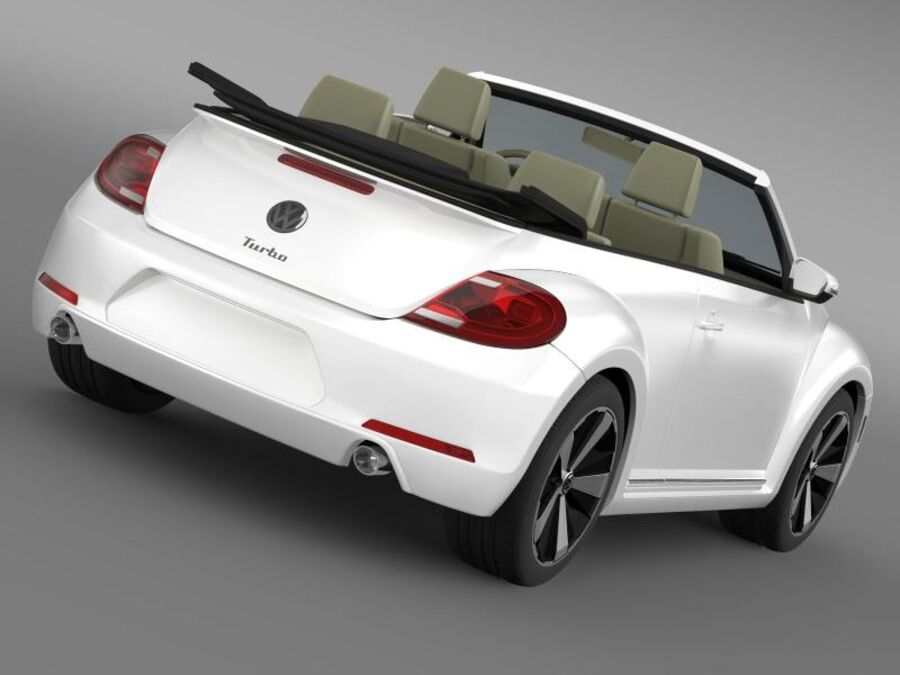 VW Beetle Turbo Cabrio royalty-free modelo 3d - Preview no. 2
