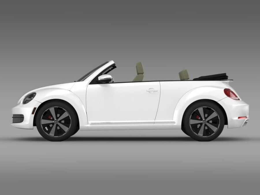 VW Beetle Turbo Cabrio royalty-free modelo 3d - Preview no. 6