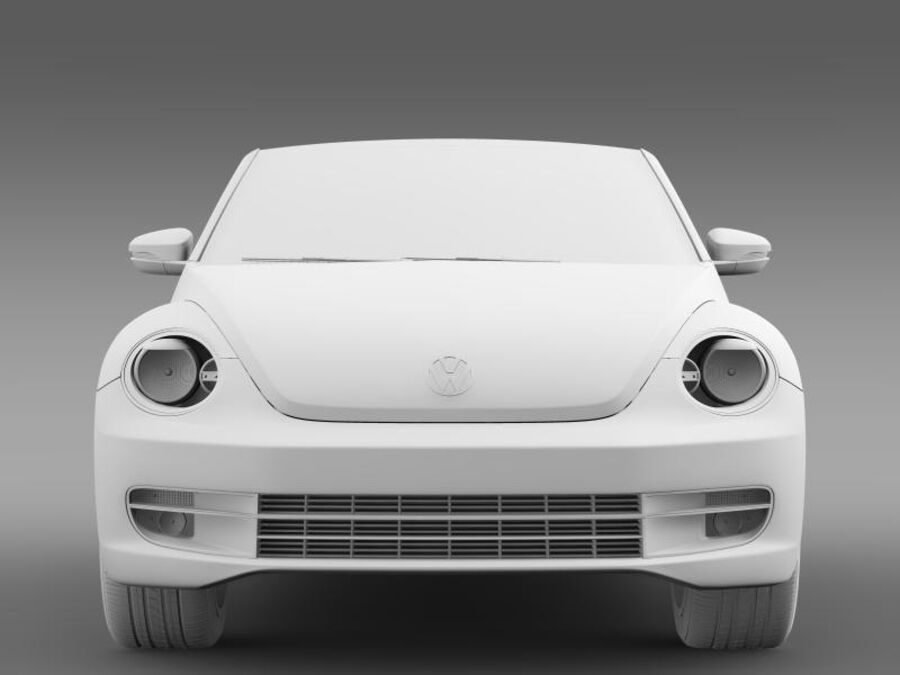 VW Beetle Turbo Кабриолет royalty-free 3d model - Preview no. 15