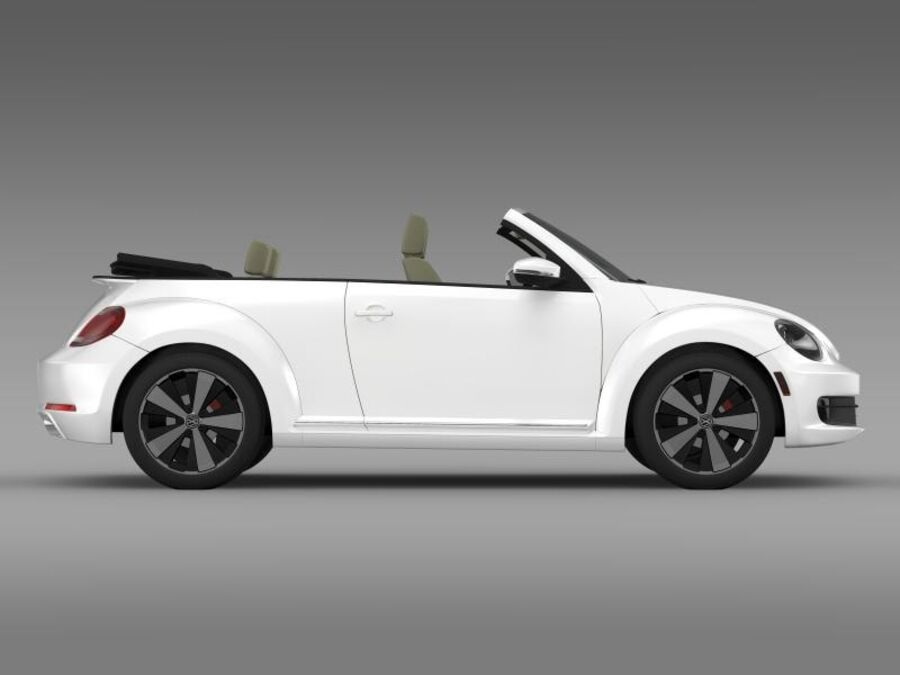 VW Beetle Turbo Кабриолет royalty-free 3d model - Preview no. 12
