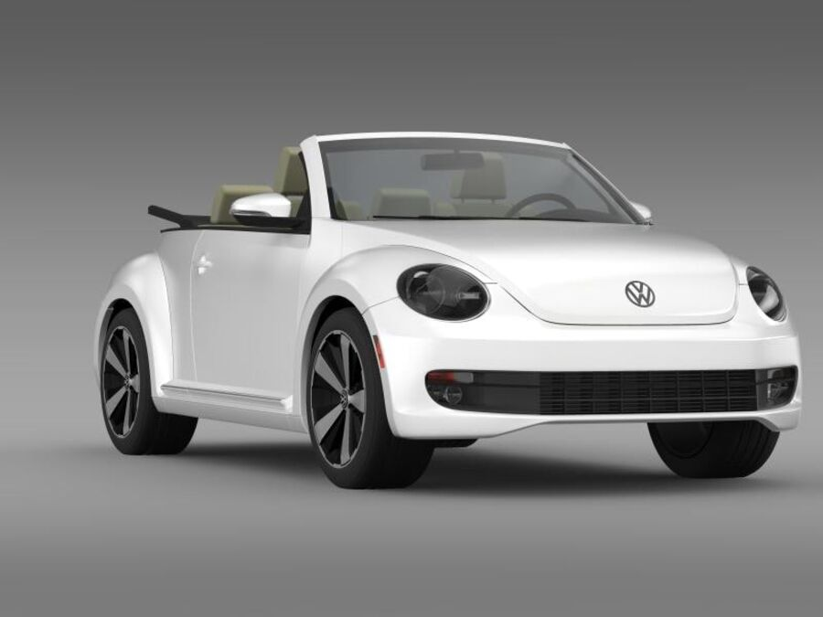 VW Beetle Turbo Кабриолет royalty-free 3d model - Preview no. 14