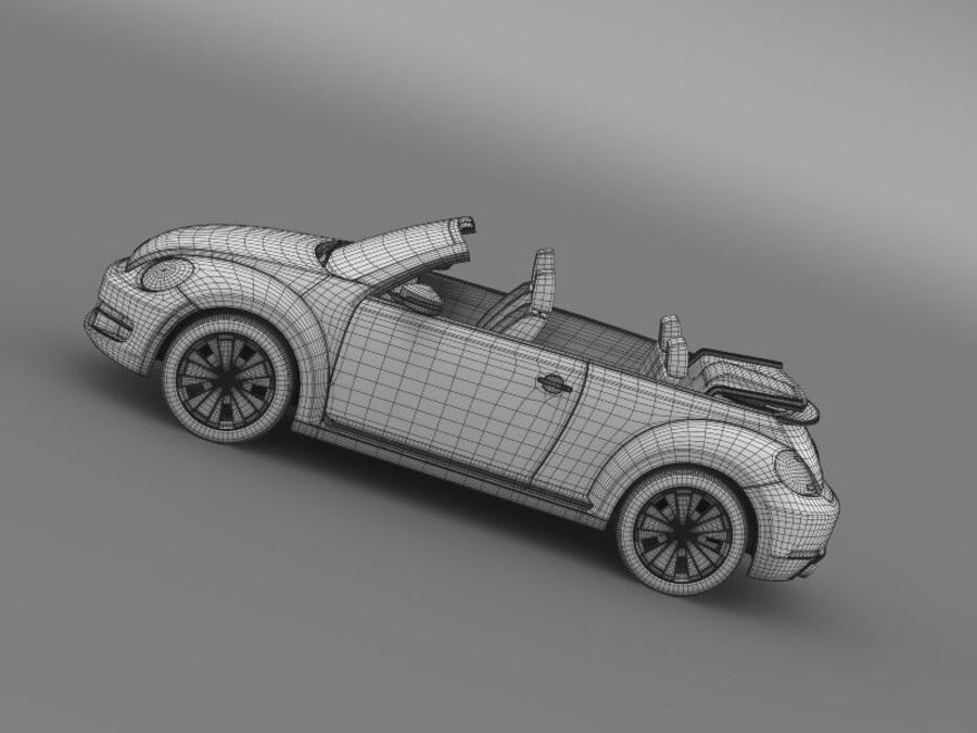 VW Beetle Turbo Кабриолет royalty-free 3d model - Preview no. 20
