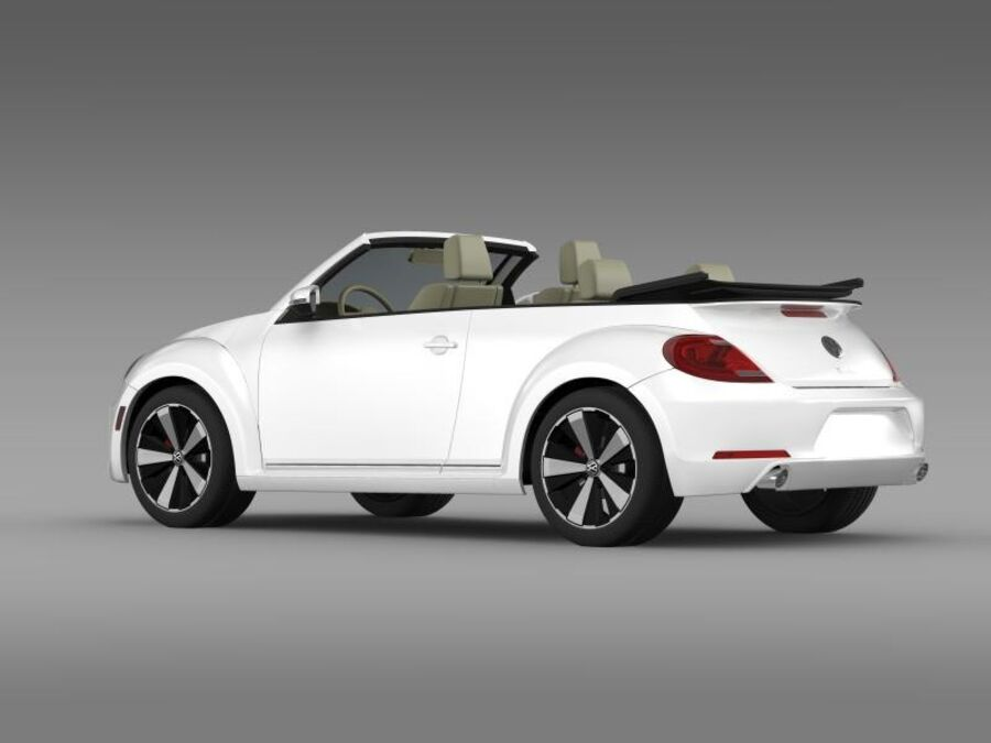 VW Beetle Turbo Cabrio royalty-free modelo 3d - Preview no. 7