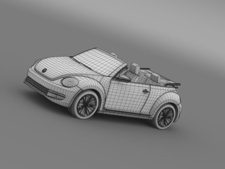 VW Beetle Turbo Кабриолет royalty-free 3d model - Preview no. 19