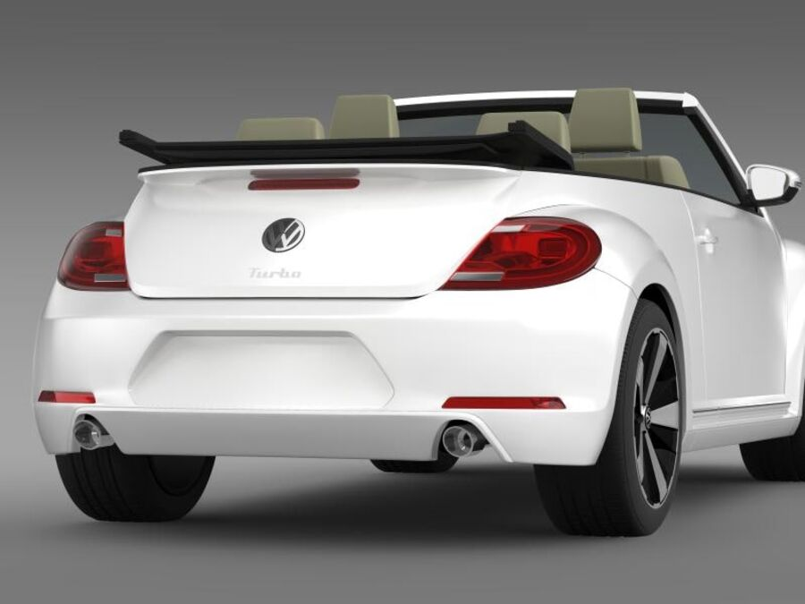 VW Beetle Turbo Cabrio royalty-free modelo 3d - Preview no. 9