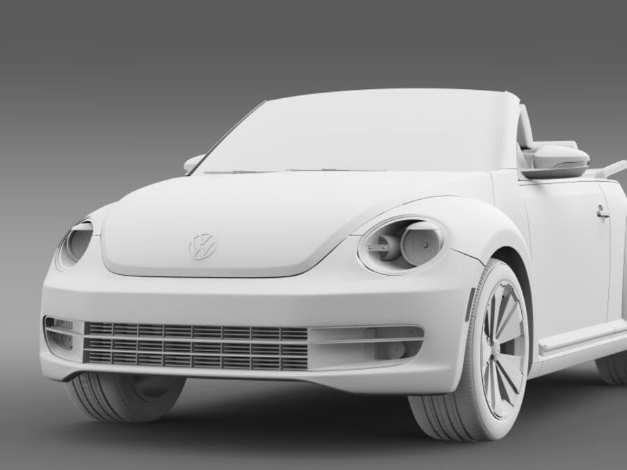 VW Beetle Turbo Cabrio royalty-free modelo 3d - Preview no. 17