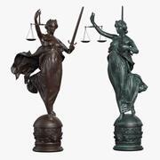 Lady Justice 3d model