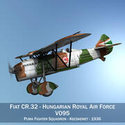 Fiat CR.32 - Forza Aerea Reale Ungherese - V095 3d model
