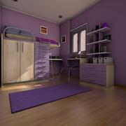 Подросток кабинет и спальня 3d model