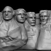 Mount Rushmore Zbrush 3d model
