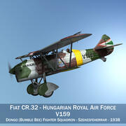 Fiat CR.32 - Aeronautica reale ungherese - V159 3d model