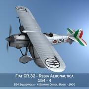 Fiat CR.32 - Военно-воздушные силы Италии - 154-я эскадрилья 3d model