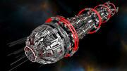 Paquete de nave espacial industrial modelo 3d