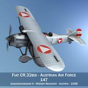 Fiat CR.32 - Aeronautica Militare Austriaca - Jagdgeschwader II 3d model