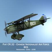 Fiat CR.32 - Aviazione nazionalista cinese 3d model