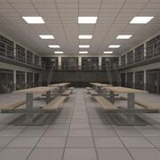 Innenraum des Gefängnisblocks 3d model