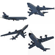 3D Military Aircraft Collection 3d model