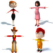 Cartoon Characters 3d model