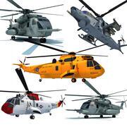 3D Military Helicopter Models 3d model