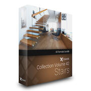 CGAxis Models Volume 42 Stairs 3d model