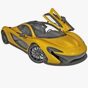 McLaren P1 Rigged 3d model