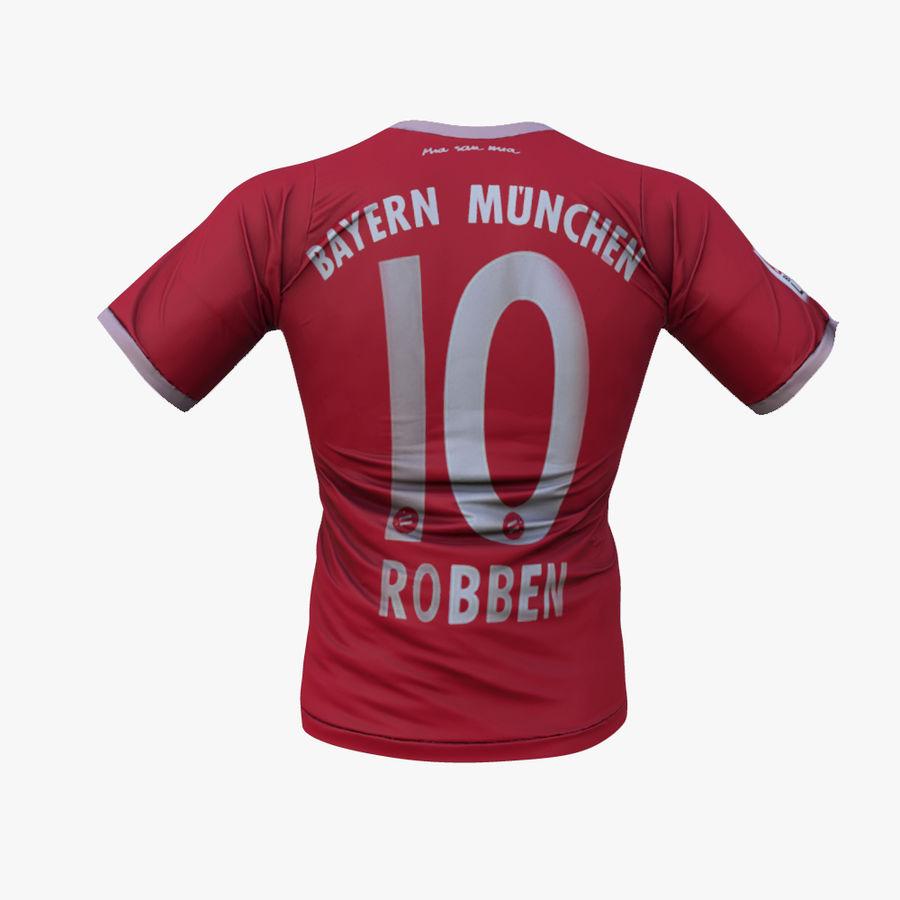 FC Bayern Munchen T恤(2013-2014) royalty-free 3d model - Preview no. 4
