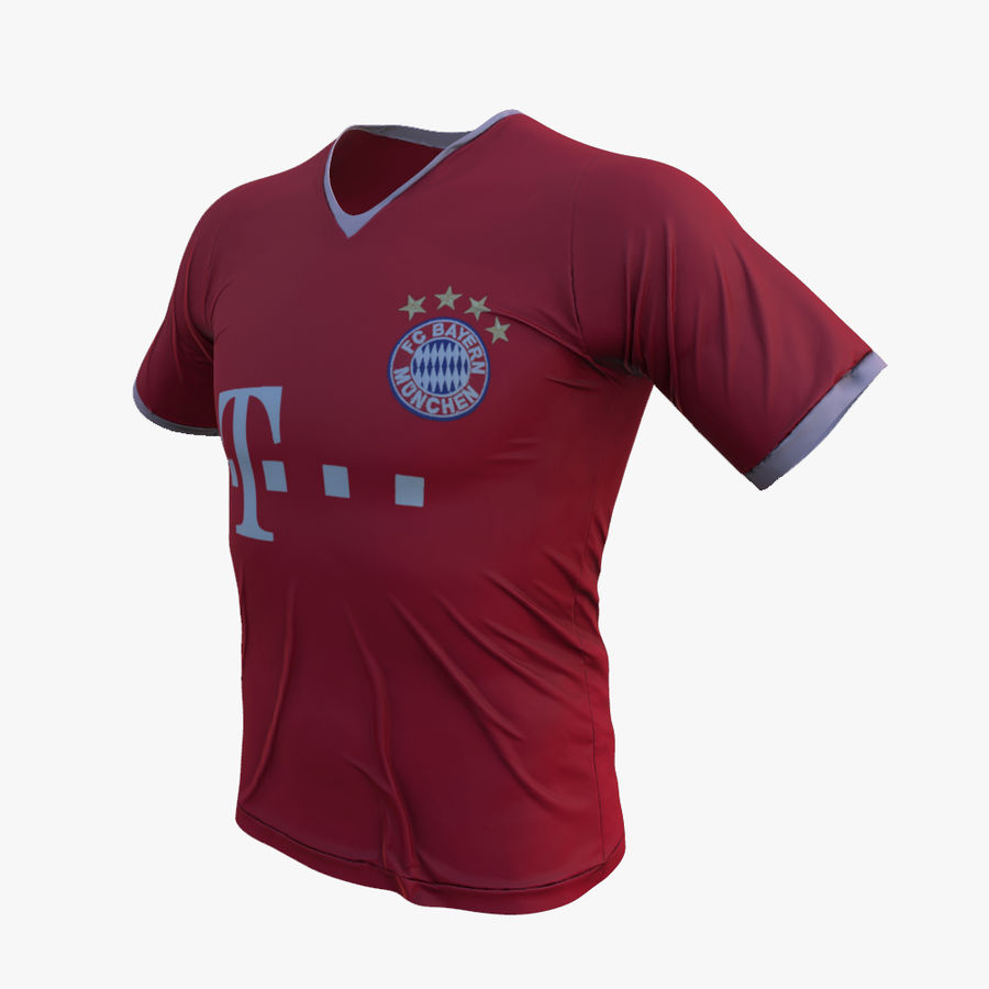FC Bayern Munchen T恤(2013-2014) royalty-free 3d model - Preview no. 2