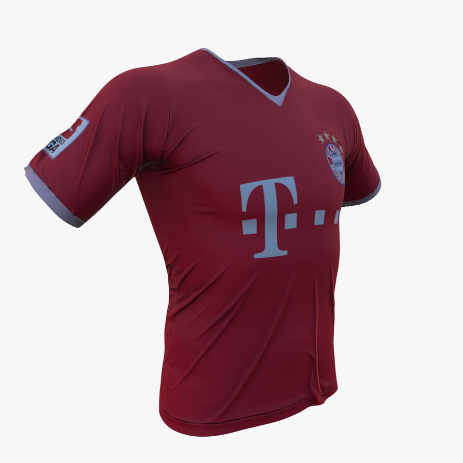 FC Bayern Munchen T恤(2013-2014) royalty-free 3d model - Preview no. 1