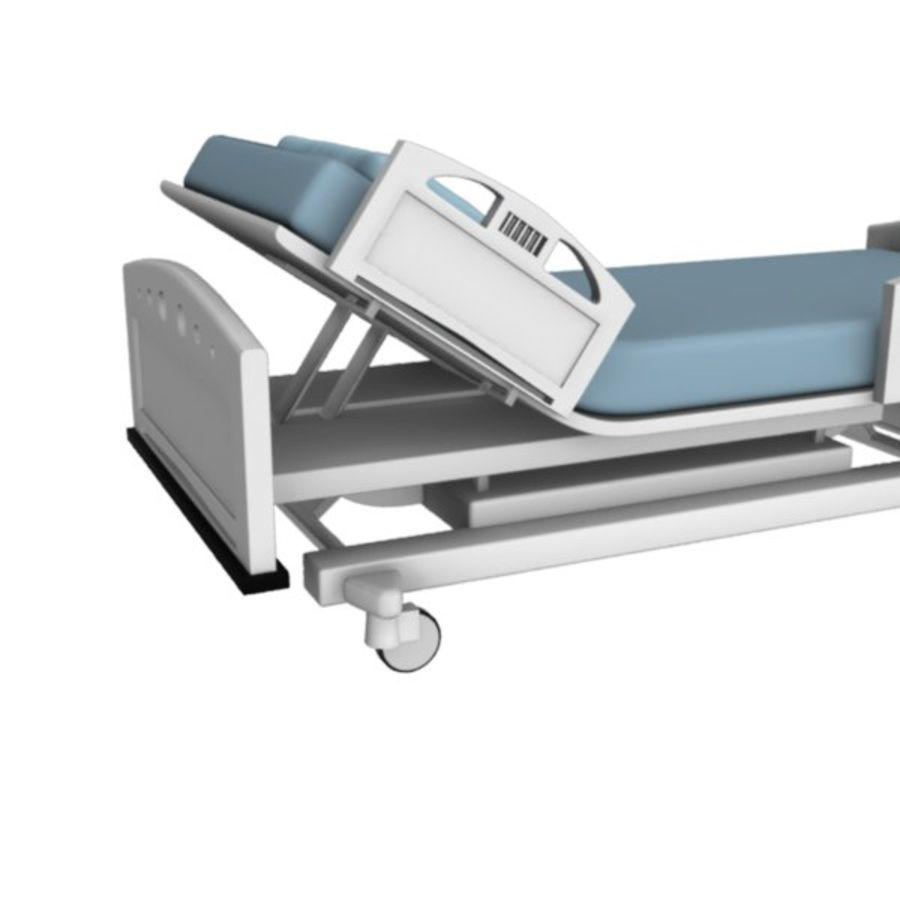 Ziekenhuis bed royalty-free 3d model - Preview no. 4