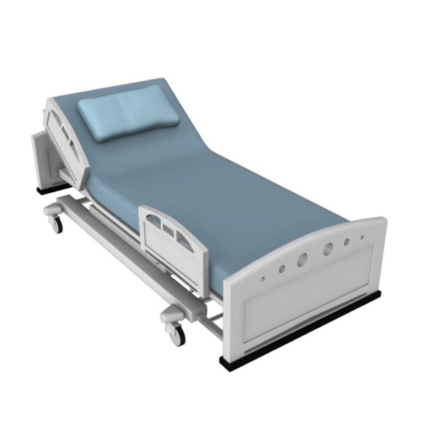 Ziekenhuis bed royalty-free 3d model - Preview no. 12