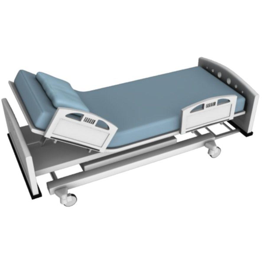 Ziekenhuis bed royalty-free 3d model - Preview no. 3