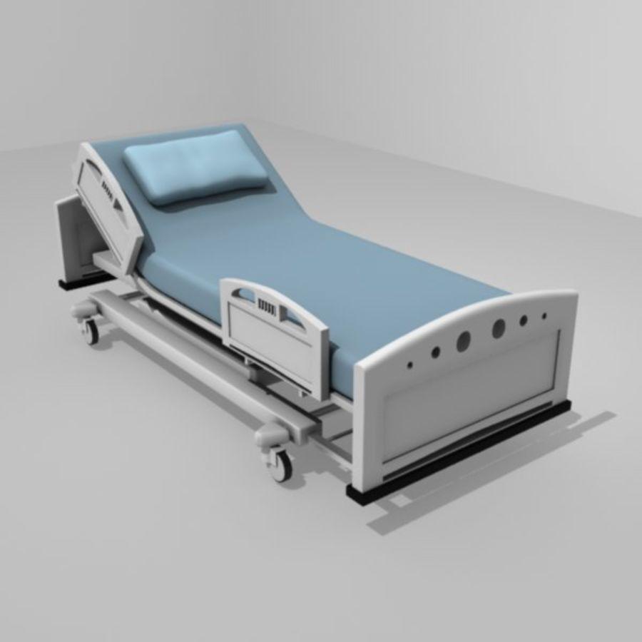 Ziekenhuis bed royalty-free 3d model - Preview no. 2