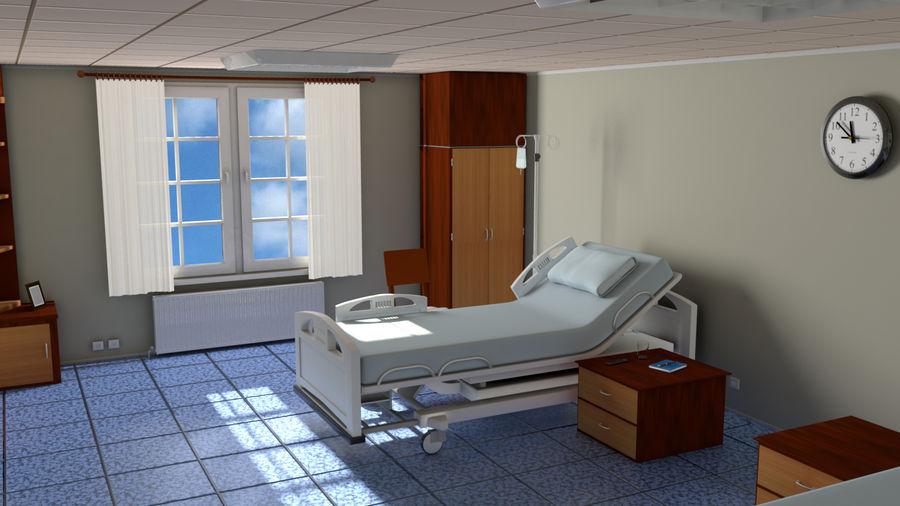 Ziekenhuis bed royalty-free 3d model - Preview no. 13